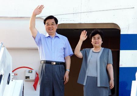 胡锦涛抵达塞舌尔访问在机场发表书面讲话