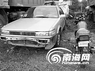 海南临高审计局副局长开车撞人打警察(图)