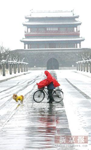 北京今年首发道路结冰黄色预警(组图)