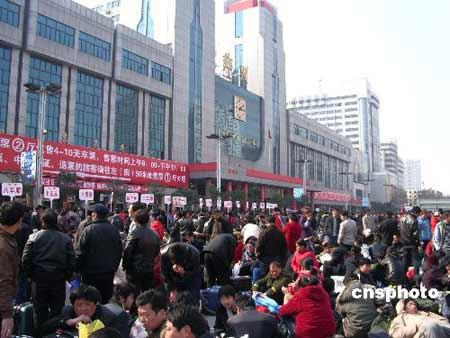 郑州至东北十趟列车停运滞留大量旅客(图)