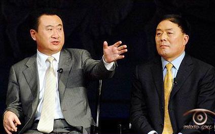 万达董事长王健林与国航董事长李家祥