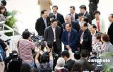 图文:香港民建联主席马力抵达行政长官选举会场