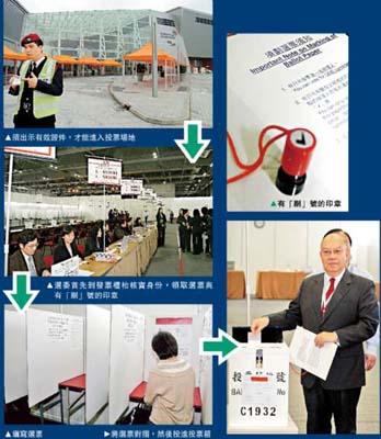 香港亚博馆戒备森严迎选委无有效证件者难进出