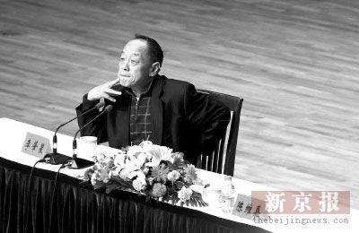 李肇星在中国传媒大学作报告自称郎朗乐迷(图)