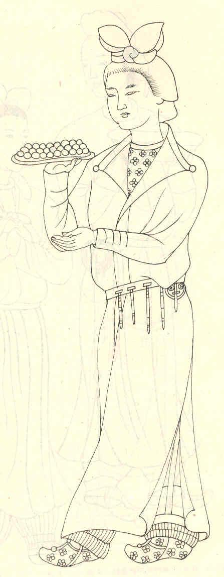 富丽堂皇的唐朝服装   唐代是我国政治,经济高度发展,文化艺术