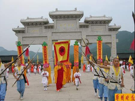 少林寺武僧将每日免费为游客表演迎宾演出(图)