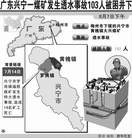 胡锦涛温家宝指示全力抢救兴宁煤矿被困矿工