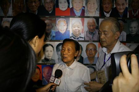 图文:南京大屠杀幸存者夏淑琴向媒体讲述血泪史