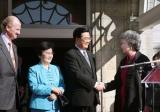 图文:胡锦涛出席加拿大总督举行的欢迎仪式