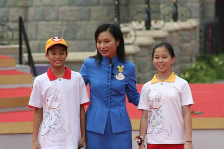 图文:杜苡乐担当香港迪斯尼亲善大使