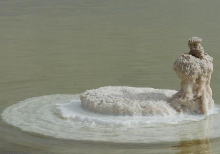 图文:[精彩华夏](11)察尔汗盐湖美丽盐花绽放