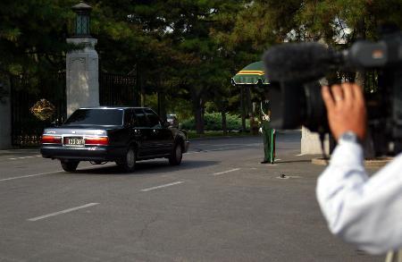 图文:朝鲜代表团进入钓鱼台国宾馆参加团长会