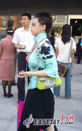 图文:复旦百年校庆大会上的女嘉宾