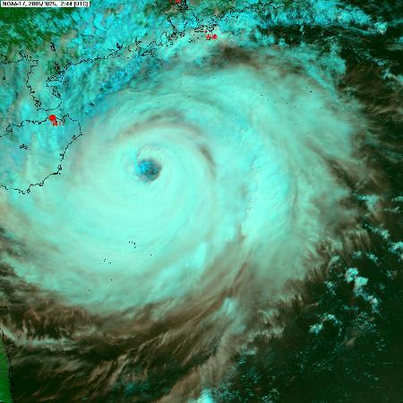 图文:海南省气象台提供的卫星云图