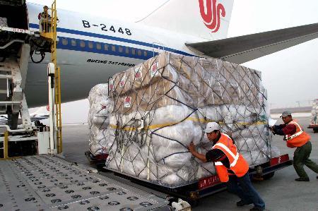 图文:我国向巴基斯坦提供的第二批物资启运