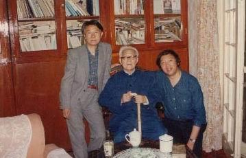 图文:巴金与吴泰昌、冯骥才合影