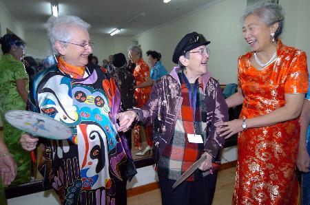 图文:美国老年社会工作者访问团到北京社区参观交流(1)