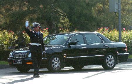 图文:韩国代表团车辆抵达北京钓鱼台国宾馆