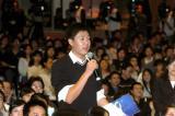 图文:香港学生代表在提问