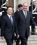 图文:温家宝会见法国总统希拉克