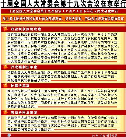 图文:十届全国人大常委会第十九次会议在京举行