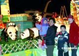图文:大熊猫亮相台北灯节