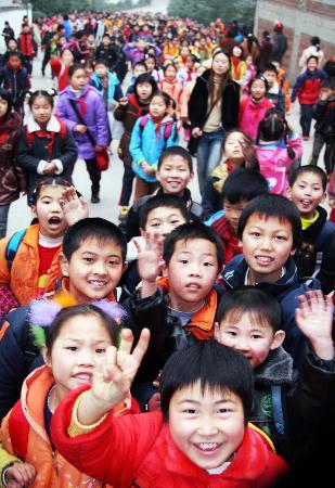 图文:重庆云阳中小学生免收学杂费(3)