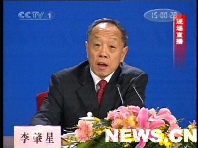 图文:外交部部长李肇星记者招待会开始