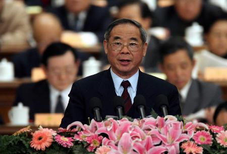 图文:陈耀邦在政协十届四次会议二次会议发言