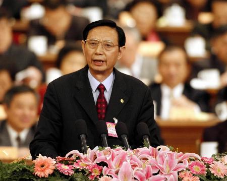 图文:尹明善在政协十届四次会议二次会议发言