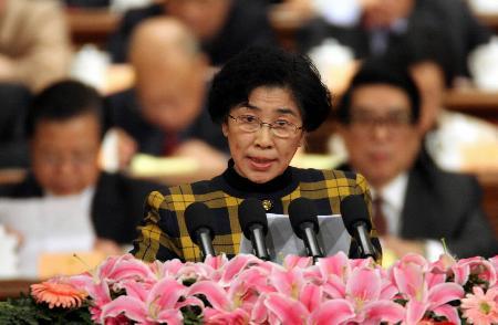 图文:九三学社王志珍委员在政协会议上发言