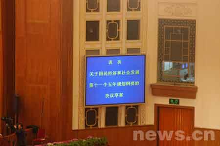 组图:全国人大十届四次会议闭幕