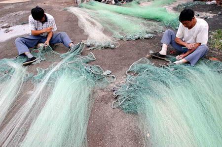 图文:北塘渔港期待开渔的日子