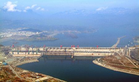 组图:三峡大坝全面建成在即全长2309米