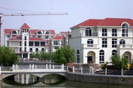 固始县建设中的务工人员住宅小区.