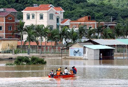 图文:福建漳州遭受大范围降水