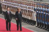 图文:温家宝欢迎德国总理访华