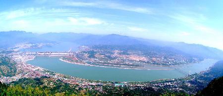 图文:三峡工地全景图