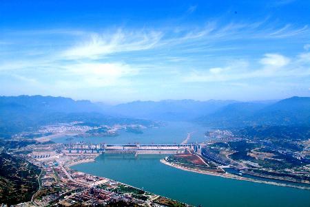 图文:三峡大坝全景图