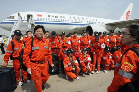 组图:中国国际救援队赴印尼地震灾区