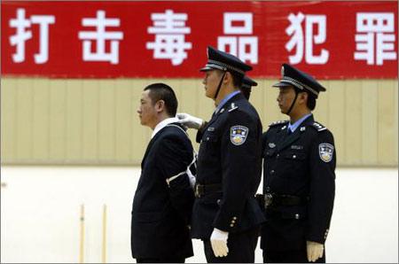图文:上海焚毁400千克毒品三毒犯被执行死刑
