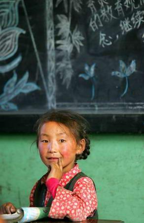 图文:藏族小女孩