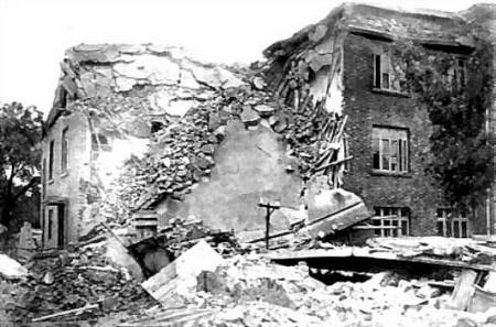 图文:煤矿设计院砖混结构的楼房局部倒塌