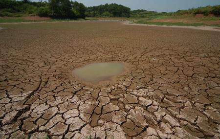 组图:安徽黄山遭遇重大旱情