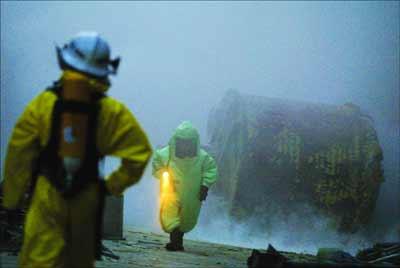 广州钛白粉厂有毒液体泄漏大批人员抢险(组图)
