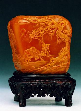 形态逼真的福州寿山石雕(组图)