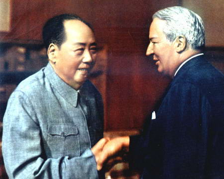 图文:毛泽东会见英国首相希思
