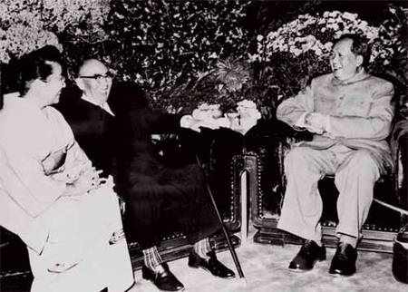 图文:毛泽东主席会见日本前首相石桥湛山