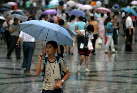 组图:重庆久旱迎来降雨