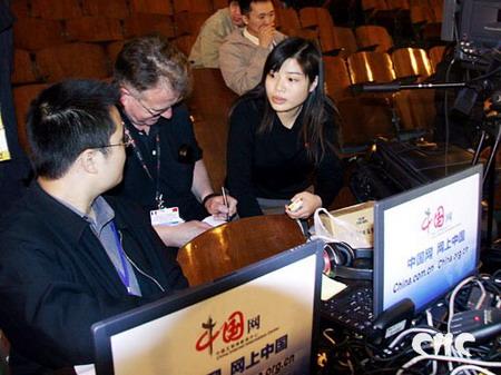 法国电视台导演关注中国网直播技术